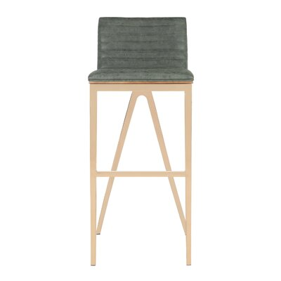Corbeil Bar Stool Color: Dark Green