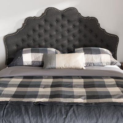 Hopkinsville Upholstered Panel Headboard Size: Twin, Color: Dark Gray