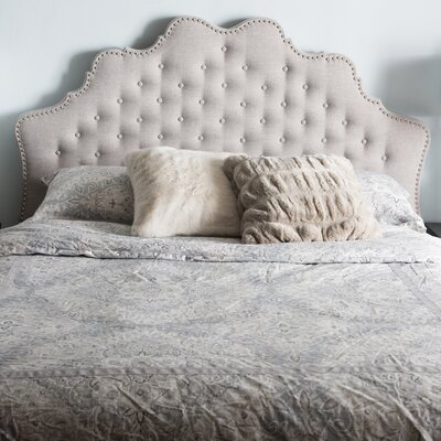 Hopkinsville Upholstered Panel Headboard Size: Queen, Color: Grayish Beige