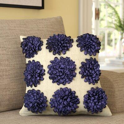 Thomsen 100% Cotton Throw Pillow Color: Grape