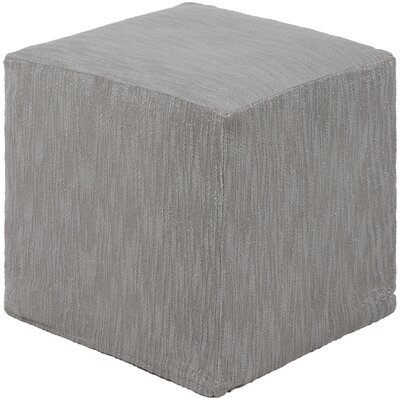 Leech Solid Ottoman Upholstery: Silver Gray