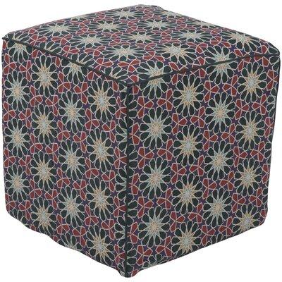 Bryden Bohemian Ottoman Upholstery: Dark Green