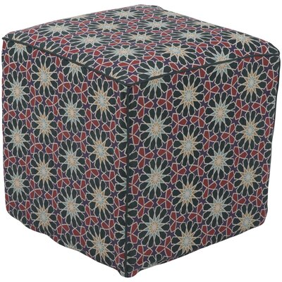 Bryden Bohemian Pouf Upholstery: Dark Green