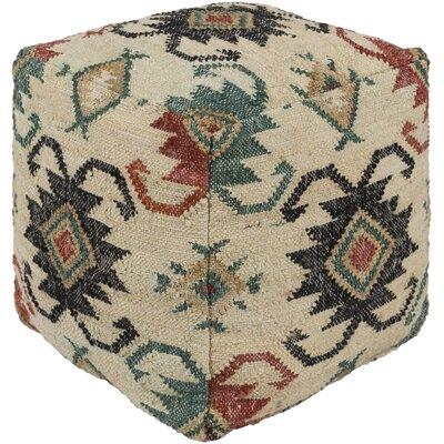 Myler Bohemian Pouf Upholstery: Rust