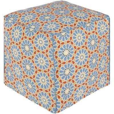 Bryden Bohemian Ottoman Upholstery: Aqua