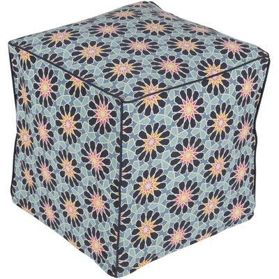 Bryden Bohemian Pouf Upholstery: Denim