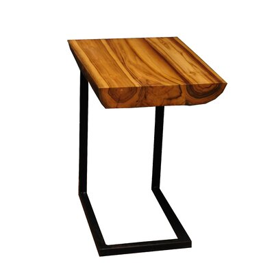 Labarge Live Edge Teak End Table