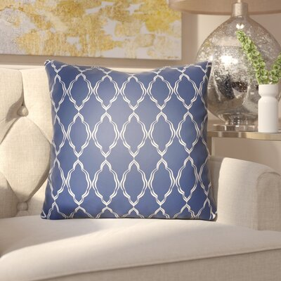 Bonaway Indoor/Outdoor Throw Pillow Size: 18 H x 18 W x 3.5 D, Color: Dark Blue