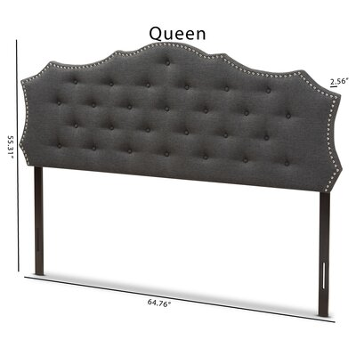 Houghton Upholstered Panel Headboard Size: Queen, Color: Dark Grey