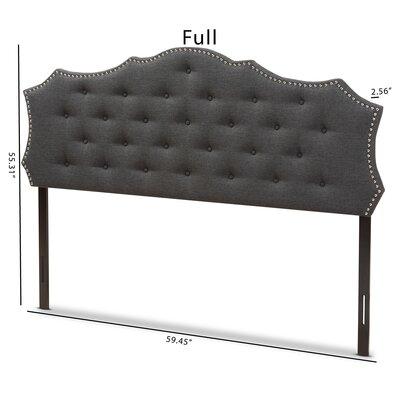 Houghton Upholstered Panel Headboard Size: Full, Color: Dark Grey