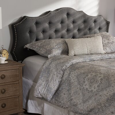 Houghton Upholstered Panel Headboard Size: Queen, Color: Black