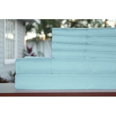 Premium 1800 Series 300 Thread Count Rayon from Bamboo Sheet Set Size: Full, Color: Aquarius