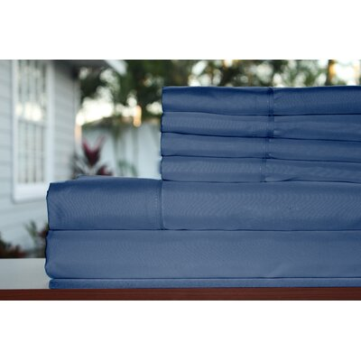 Premium 1800 Series 300 Thread Count Rayon from Bamboo Sheet Set Size: King, Color: Navy