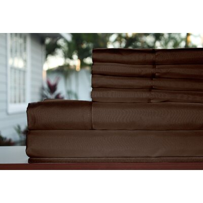 Premium 1800 Series 300 Thread Count Rayon from Bamboo Sheet Set Size: Full, Color: Chocolate