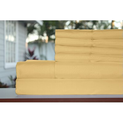 Premium 1800 Series 300 Thread Count Rayon from Bamboo Sheet Set Size: King, Color: Honey
