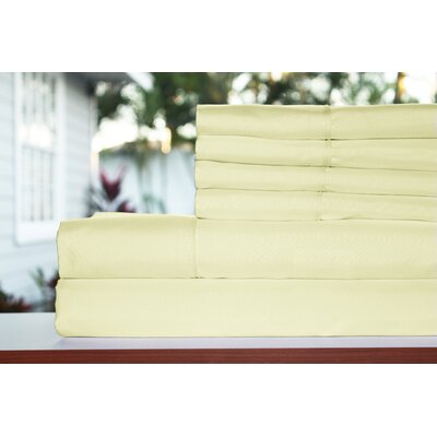 Sykes 300 Thread Count 6 Piece Sheet Set Size: Queen, Color: Ivory Cream