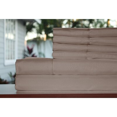 Premium 1800 Series 300 Thread Count Rayon from Bamboo Sheet Set Size: Full, Color: Taupe