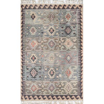Chenoweth Hand-Knotted Wool Blue Area Rug Rug Size: Rectangle 36 X 56