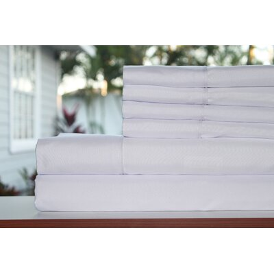 Premium 1800 Series 300 Thread Count Rayon from Bamboo Sheet Set Size: King, Color: Snow White