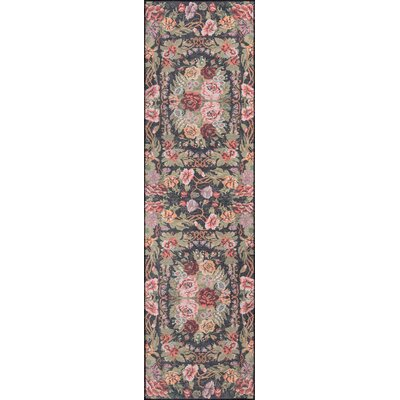 Chiu Black/Green/Pink Area Rug Rug Size: Runner 23 x 76