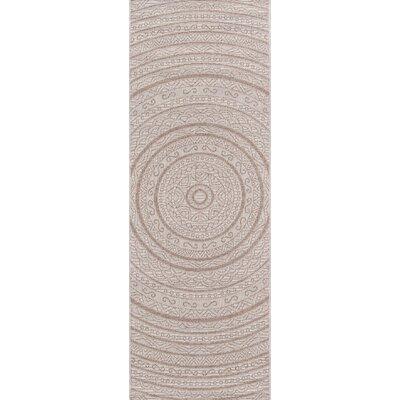 Chenier Tan Indoor/Outdoor Area Rug Rug Size: Runner 27 x 76