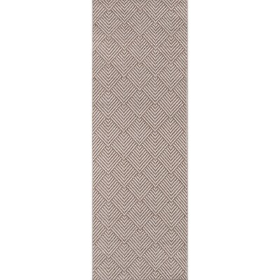 Losada Beige Indoor/Outdoor Area Rug Rug Size: Runner 27 x 76