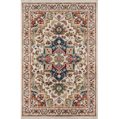 Ebner Ivory Area Rug Rug Size: Rectangle 96 X 126