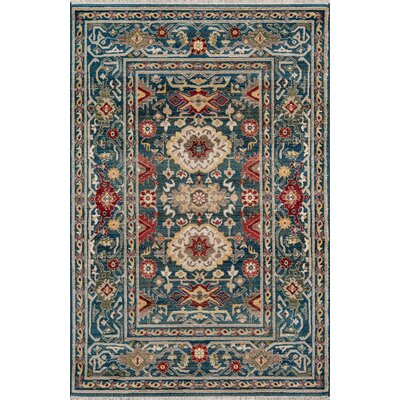 Ebner Blue Area Rug Rug Size: Rectangle 96 X 126