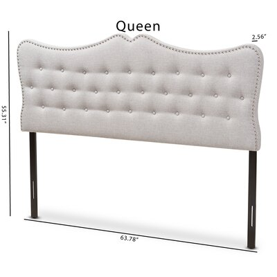 Hoytville Upholstered Panel Headboard Size: Queen, Color: Beige