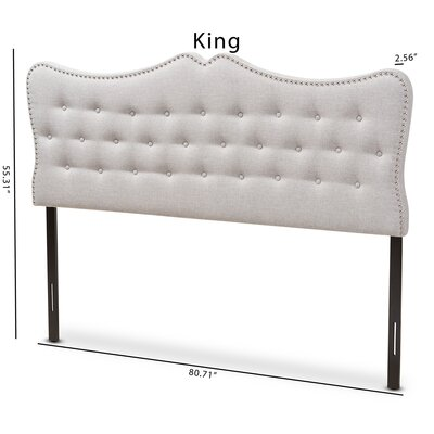Hoytville Upholstered Panel Headboard Size: King, Color: Beige