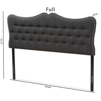 Hoytville Upholstered Panel Headboard Size: Full, Color: Black