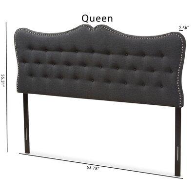 Hoytville Upholstered Panel Headboard Size: Queen, Color: Black