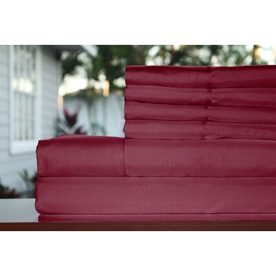 Premium 1800 Series 300 Thread Count Rayon from Bamboo Sheet Set Size: King, Color: Burgundy