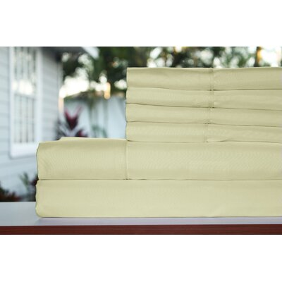 Sykes 300 Thread Count 6 Piece Sheet Set Size: California King, Color: Khaki