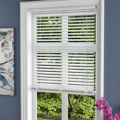 Cordless Vinyl Pickled Oak Horizontal/Venetian Blind Size: 29 W x 64 H