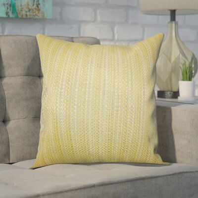 Kardos Throw Pillow Color: Yellow, Size: 20 x 20