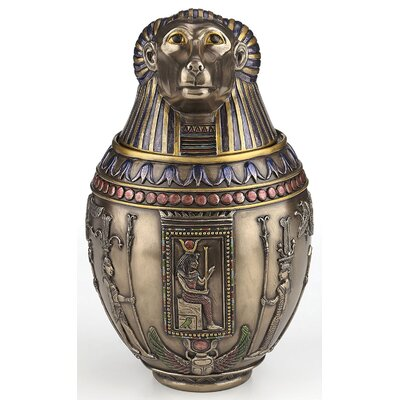 Crozier Egyptian God Hapi Canopic Jar Decorative Urn 7D5EE7B18FFD462E87A6684C4B5F8ED6