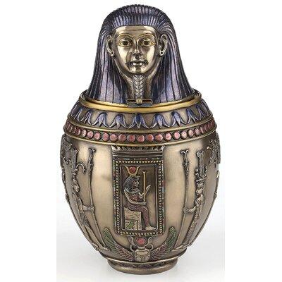 Croyle Egyptian Imsety Pharoah Decorative Urn BC62B46CBD1D4CC7B12EB58DB94CF728