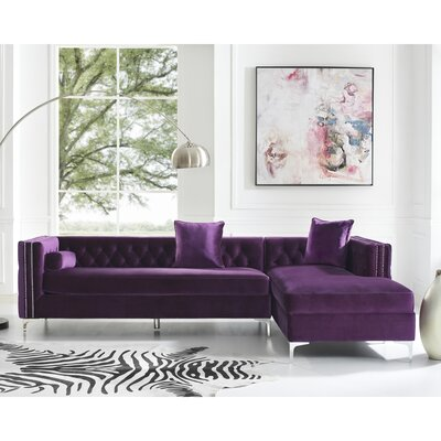 Kaufman Reversible Sectional Upholstery: Purple