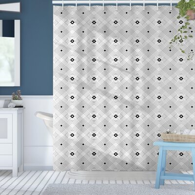 Baudoin Place Modern Squares Shower Curtain Size: 69 W x 75 L