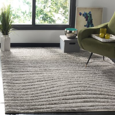 West Village Gray Area Rug Rug Size: Square 67