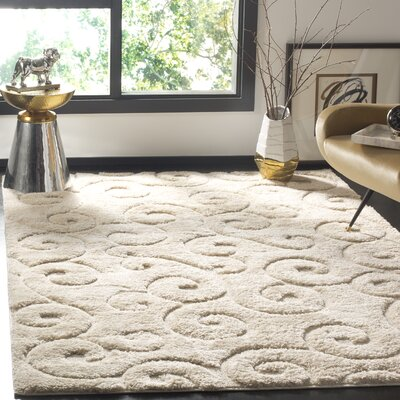 West Village Beige Area Rug Rug Size: Round 67