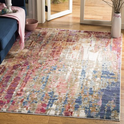 Marable Red/Blue Area Rug Rug Size: Rectangular 3 x 5