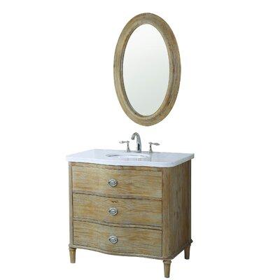 Azaria 36 Single Bathroom Vanity Set with Mirror