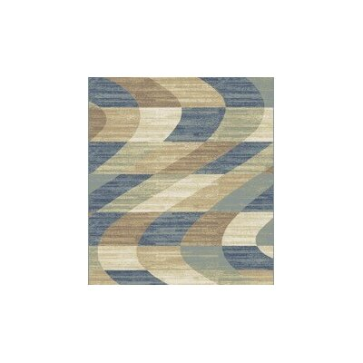 Stone Blue/Beige Area Rug Rug Size: Rectangle 53 x 72