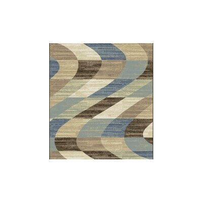Stone Brown/Blue Area Rug Rug Size: Runner 2 x 72
