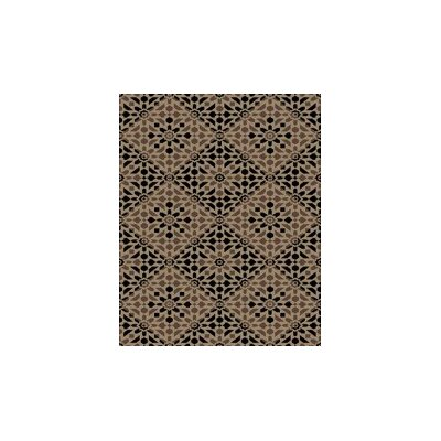 Fulford Taupe/Black Area Rug Rug Size: Rectangle 53 x 72