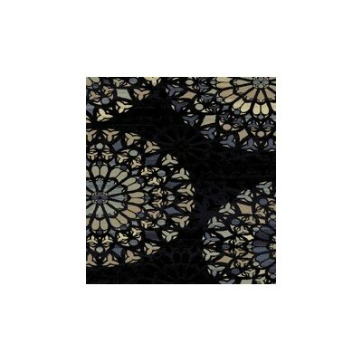 Figgs Black Area Rug Rug Size: Rectangle 53 x 72