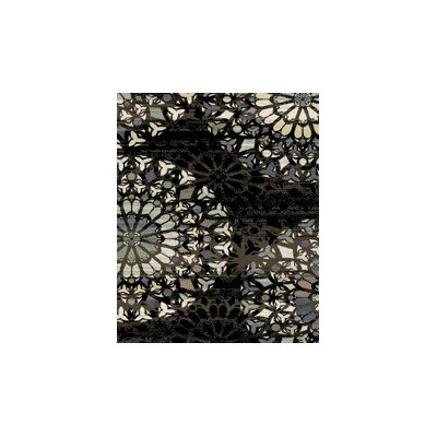 Figgs Taupe/Black Area Rug Rug Size: Rectangle 53 x 72