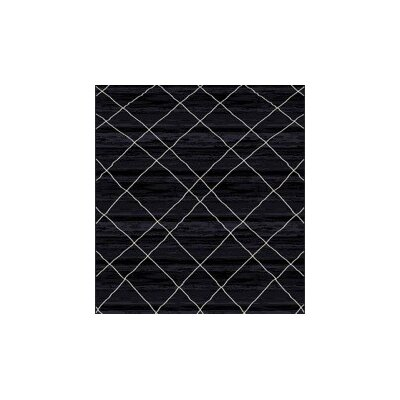 Bevis Black Area Rug Rug Size: Rectangle 53 x 72